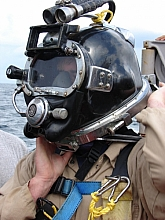 Diver donning SL27