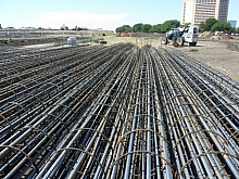 Rebar support column skeletons