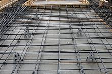Concrete tile wall interior lattice