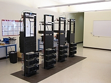 Communications equipment racks