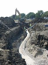 Large dia concrete water line